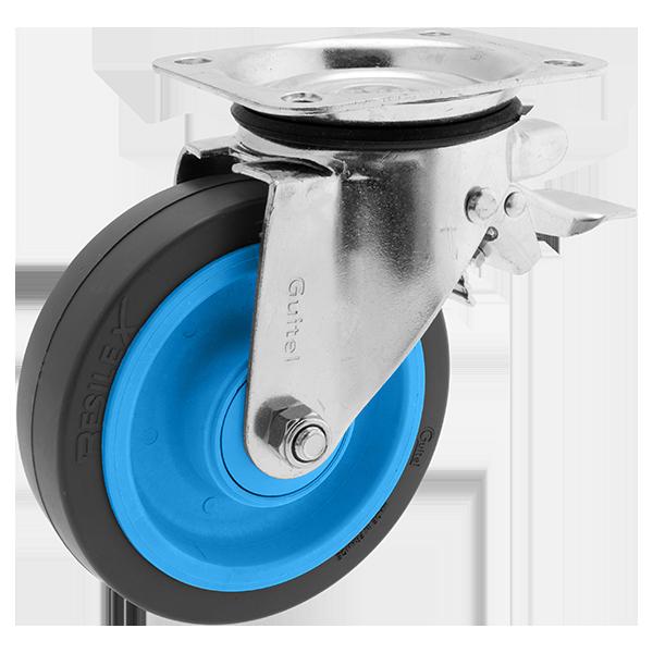 Roulette Résilex acier diamètre 160mm charge 400kg