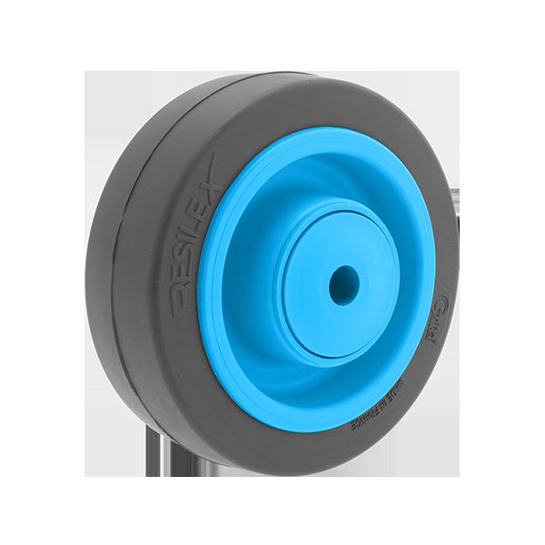 Roue Résilex acier diamètre 125mm charge 300kg