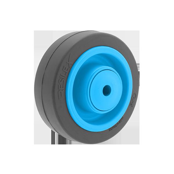Roue Résilex acier diamètre 100mm charge 200kg