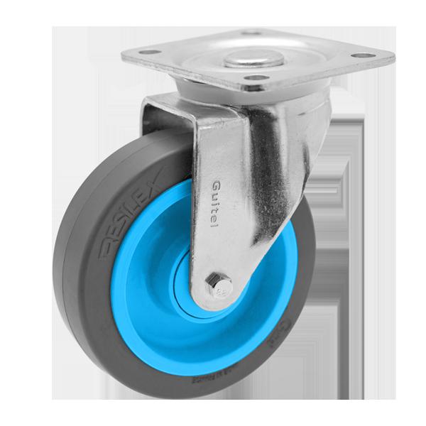 Roulette Résilex acier diamètre 125mm charge 200kg