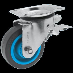 Roulette Résilex acier diamètre 125mm charge 300kg