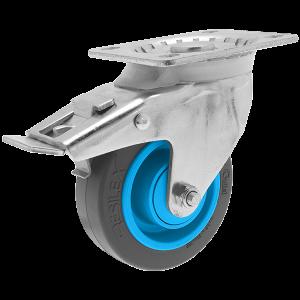 Roulette Résilex acier diamètre 100mm charge 200kg