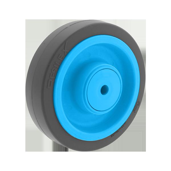 Roue Résilex acier diamètre 200mm charge 400kg