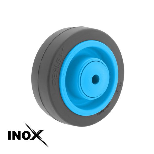 Roue Résilex Inox diamètre 125mm charge 300kg